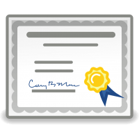 информация о статусе сетификата